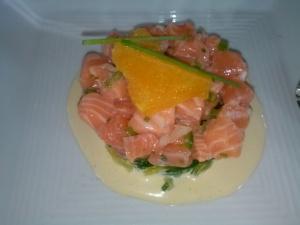 Salmon Tartar at Purple Cafe