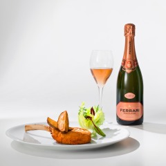 Milanese Veal Cutlet with Ferrari Rosé