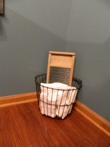 Great-grandmother's egg basket and washboard